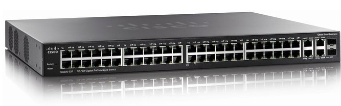 52-port Gigabit PoE Managed Switch Cisco SG300-52P
