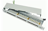 Cáp-phụ kiện Dintek | Patch panel 24 port Dintek, CAT.5e, Fully shielded