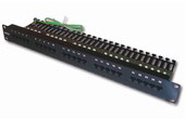 Cáp-phụ kiện Dintek | Patch panel for Telephone 25 port Dintek, 19 inch