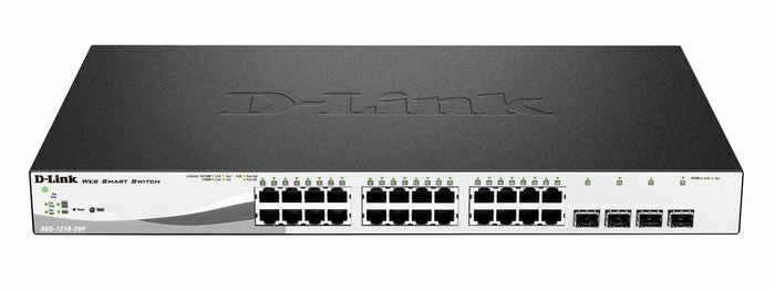 24-Port PoE Gigabit Smart Switch + 4 Slot SFP D-Link DGS-1210-28P