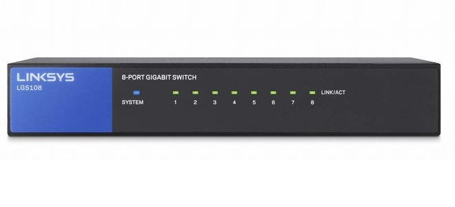 8-Port Business Desktop Gigabit Switch LINKSYS LGS108