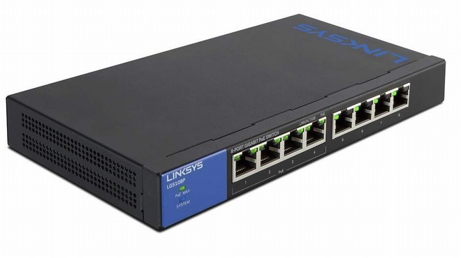 8-Port Business Desktop Gigabit PoE+ Switch LINKSYS LGS108P