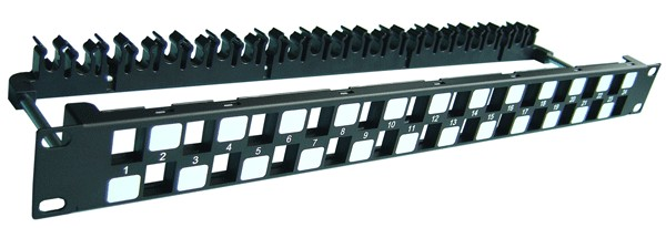 Khung Patch panel 24 Port Dintek CAT.6A 19 inch (1406-00011)