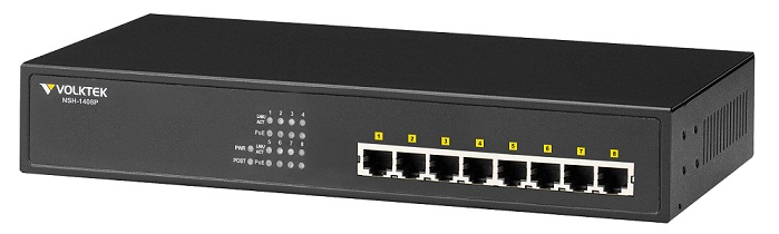 8 Port Gigabit PoE Unmanaged Switch VolkTek NSH-1408P