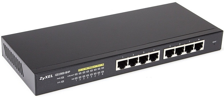 8-port GbE Smart Managed PoE Switch ZyXEL GS1900-8HP