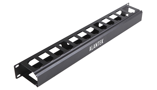 1U Aluminum Cable Management Panel Alantek