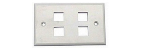 4-port Faceplate US Style Shuttered Alantek