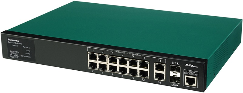 12 port 10/100/1000Mbps PoE+ Switch PANASONIC PN28128