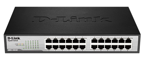 24-port 10/100/1000Mbps Unmanaged Switch D-LINK DGS-1024C