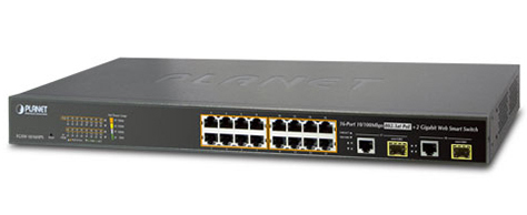 16-port 10/100Mbps PoE Switch PLANET FGSW-1816HPS