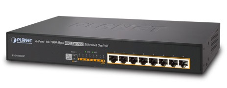 8-port 10/100Mbps PoE Switch PLANET FSD-808HP