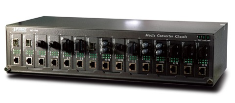 15-Slot Media Converter Classis PLANET MC-1500