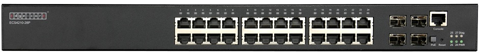 24-Port L2+ Gigabit Ethernet Access/Aggregation PoE Switch Edgecore ECS4210-28P
