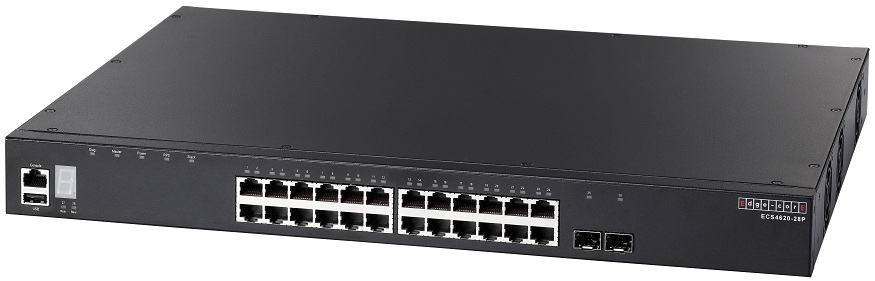 24-Port L3 Gigabit Ethernet Stackable Switch PoE Edgecore ECS4620-28P