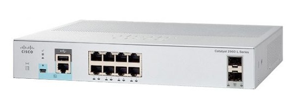 8-Port Gigabit Ethernet + 2 x Gigabit SFP Switch Cisco WS-C2960L-8TS-LL