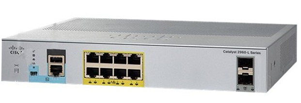 8-Port Gigabit Ethernet with PoE + 2 x Gigabit SFP Switch Cisco WS-C2960L-8PS-LL