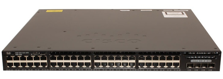 48-Port 10/100/1000Mbps + 4 x Gigabit SFP IP Base Switch Cisco WS-C3650-48TS-S