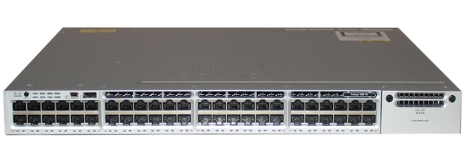 48-Port 10/100/1000 Ethernet LAN Base Switch Cisco WS-C3850-48T-L