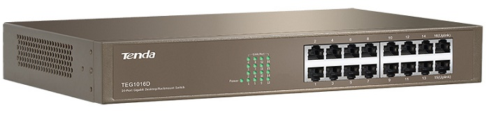 16-port 10/100/1000Mbps Switch TENDA TEG1016D