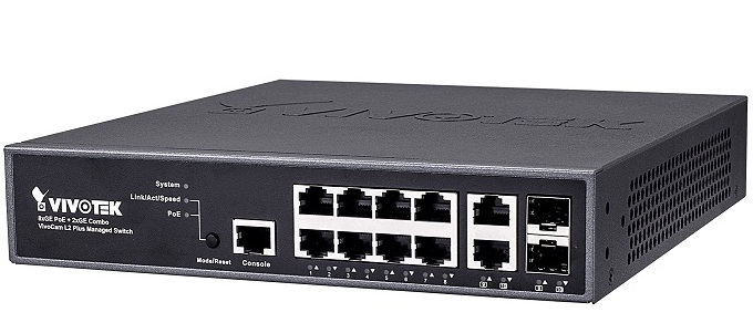 VivoCam L2+ Managed PoE Switch Vivotek AW-GEV-107A-130