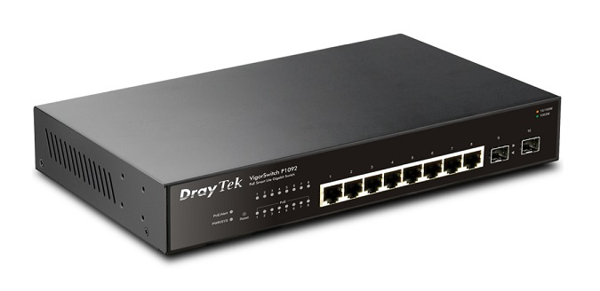 8-Port Gigabit Smart Lite PoE Switch DrayTek Vigor P1092