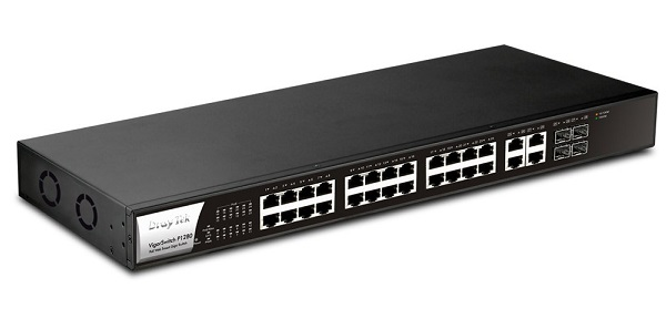 28-Port Gigabit Web Smart PoE Switch DrayTek Vigor P1280