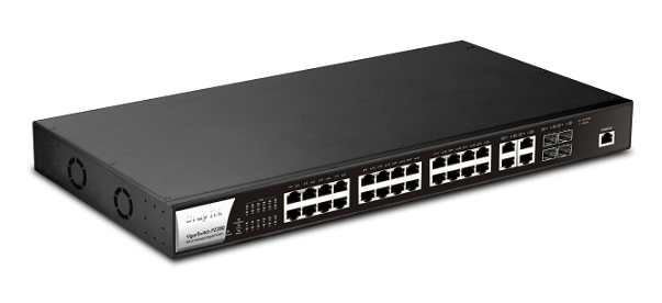28-Port PoE L2 Managed Gigabit Switch DrayTek Vigor P2280