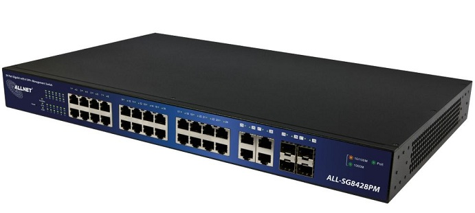 24-port PoE Gigabit + 4x SFP Managed Switch ALLNET ALL-SG8428PM