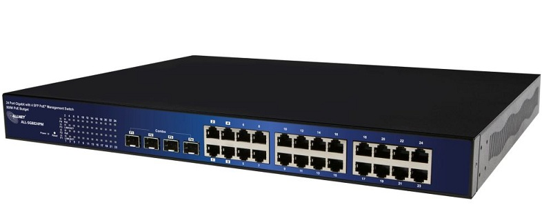 24-Port 10/100/1000BaseT(X) PoE+ with 4 SFP Switch ALLNET ALL-SG8824PM