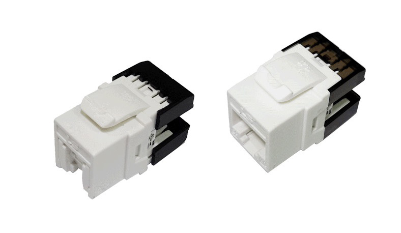 Modular Jack LS Shielded Cat5e UTP RIDC White (LS-MJ-SC5E-WH-RIDC)