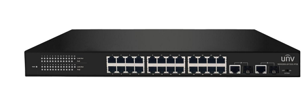24-Port 10/100Mbps Ethernet PoE Switch UNV NSW2000-24T2GC-POE