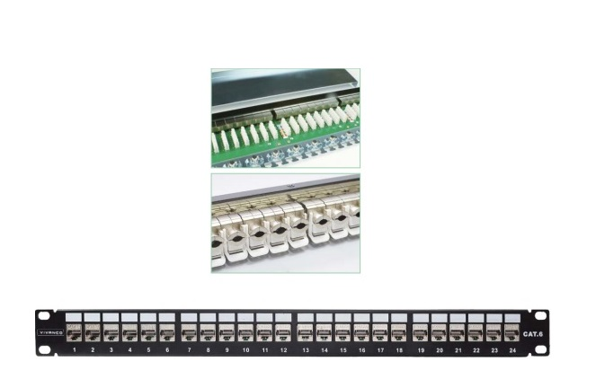 Patch panel 24-port Shielded VIVANCO CAT.6 (VCCPSF6241)