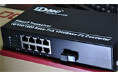 Switch PoE HDTEC | 9-Port 10/100Mbps Converter Switch POE Quang HDTec