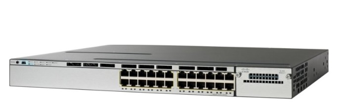 24-Port 10/100/1000 Ethernet PoE Switch Cisco Catalyst WS-C3750X-24P-S