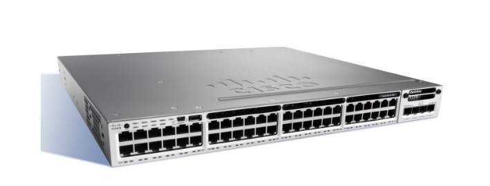48-Port 10/100/1000 Ethernet PoE+ Switch Cisco Catalyst WS-C3850-48P-L