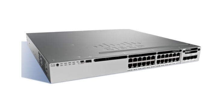 24-Port 10/100/1000 Ethernet PoE+ Switch Cisco Catalyst WS-C3850-24P-E
