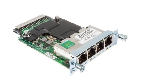 4-port Cisco Gigabit Ethernet Enhanced High-Speed WAN Interface Cards EHWIC-4ESG