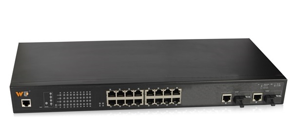 16-Port 10/100Base-T(X) + 2-Port Gigabit Switch WINTOP YT-CS1018-2GF2GT16T