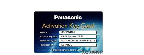 Activation key IP softphone IP-PT KX-NCS4201