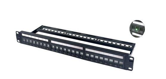 Patch panel 24-port CAT6 VIVANCO VCCPUF6241C