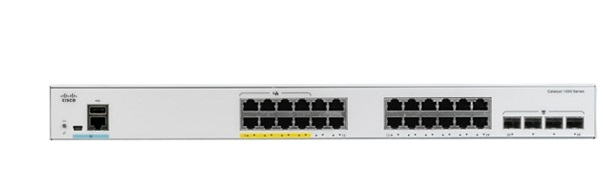 24-port 10/100/1000 PoE+ Ethernet + 4-port 1G SFP Uplinks Switch Cisco C1000-24FP-4G-L