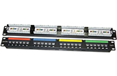 Cáp-phụ kiện Dintek | Patch panel 24 Port Dintek, CAT.6A, 19 inch