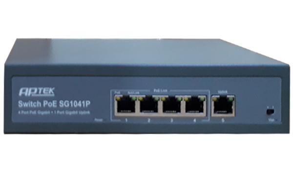 4-port Gigabit Switch PoE APTEK SG1041P - SIEU THI VIEN THONG