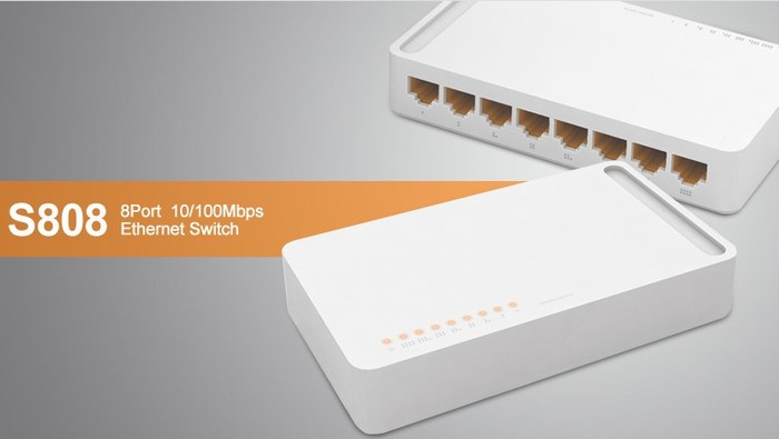 8 ports 10/100Mbps Switch TOTOLINK S808