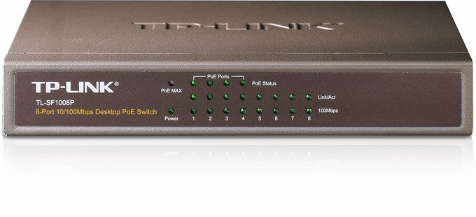 8-Port 10/100Mbps PoE Switch TP-LINK TL-SF1008P