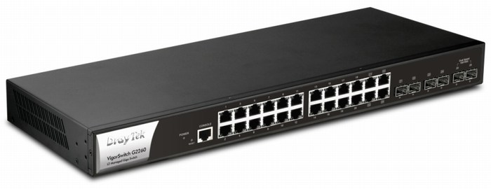24 Port 10/100/1000Mbps Switch DrayTek Vigor G2260